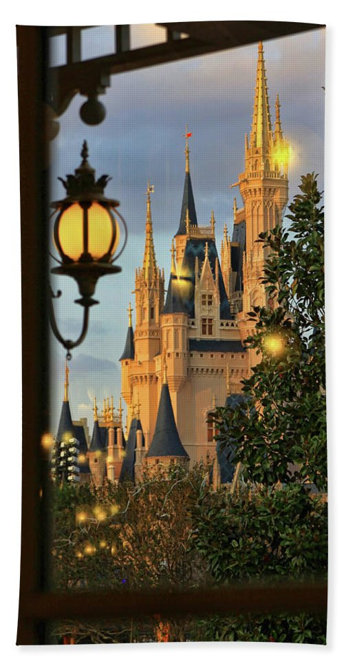 Wdw Photograph Bath Sheet featuring the photograph The Castle From The Palace by Jim Garrison