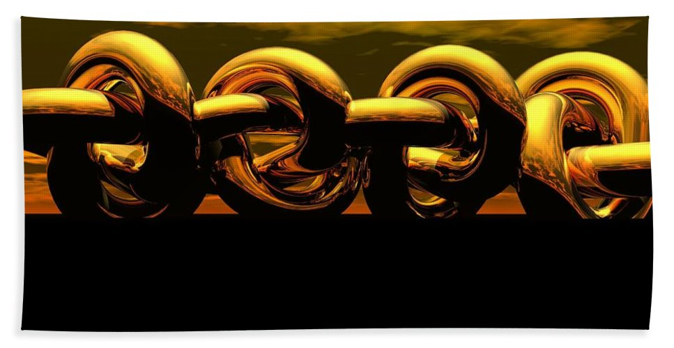 Chain Bath Sheet featuring the digital art The Chain by Robert Orinski