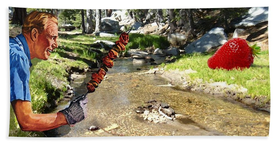 Digital Art Bath Towel featuring the photograph The Challenge by Snake Jagger