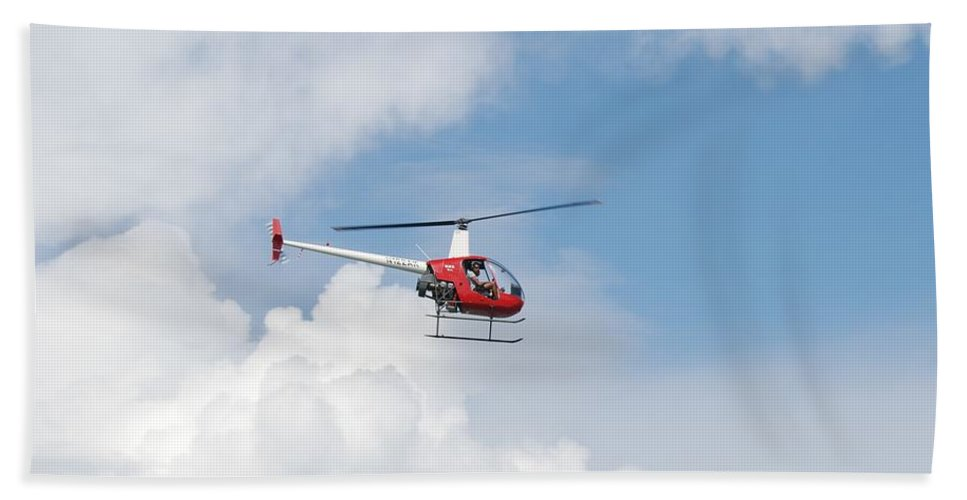 Helocopter Bath Sheet featuring the photograph The Chopper by Rob Hans