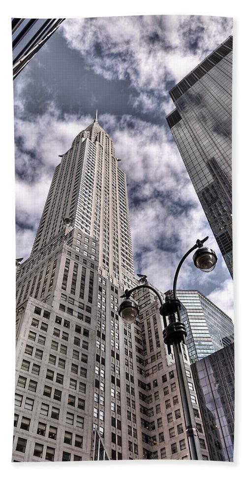 Chrysler Hand Towel featuring the photograph The Chrysler Building In Nyc Usa by Robert Ponzoni