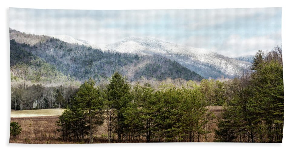 Cades Cove Hand Towel featuring the photograph The Church From Hyatt Lane by Everet Regal