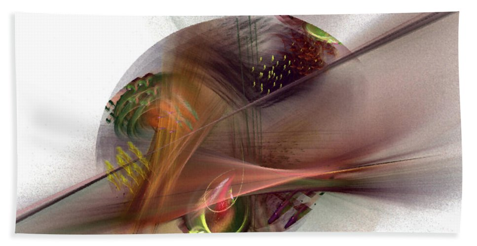 Abstract Hand Towel featuring the digital art The Circle Sea by NirvanaBlues