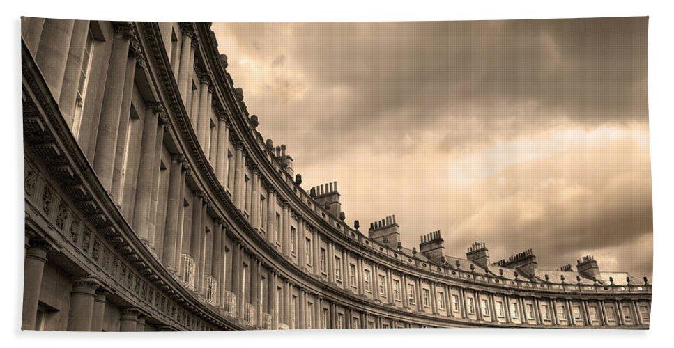 Bath Bath Towel featuring the photograph The Circus Bath England by Mal Bray