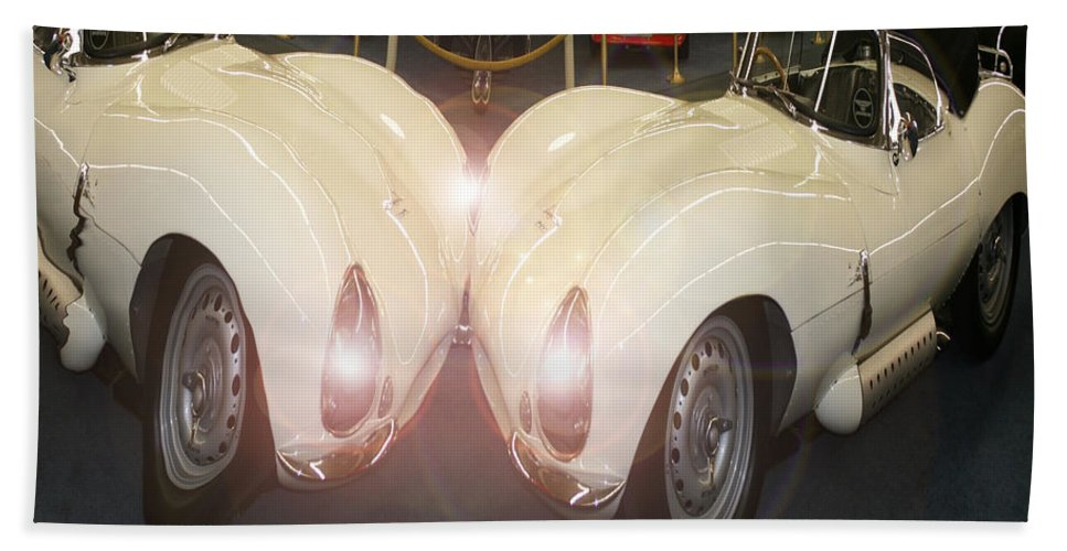 Car Classic Automobile Antique Vehicle Sports Car Photo Bath Sheet featuring the photograph The Classic 2 by Andrea Lawrence