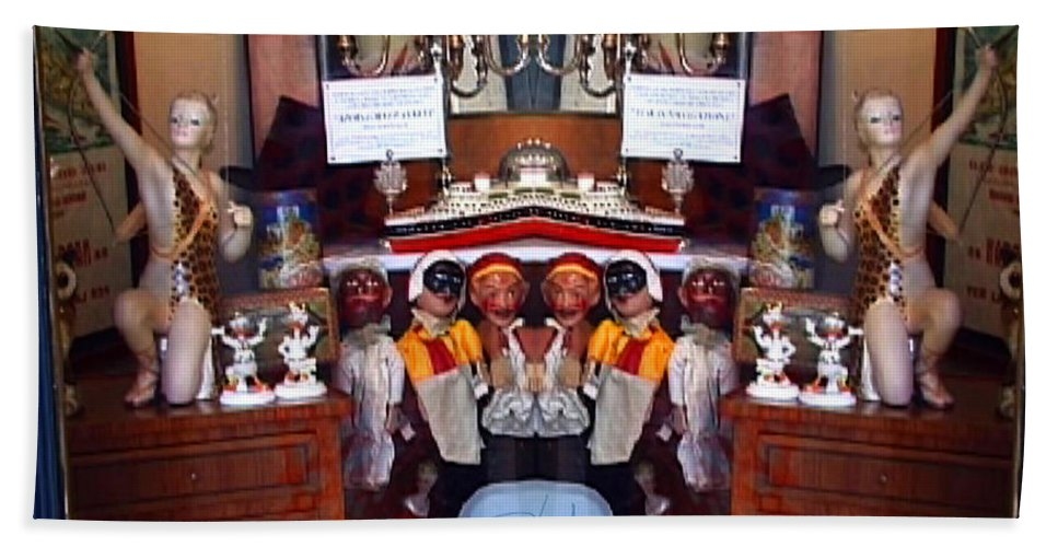 Toys Bath Towel featuring the photograph The Collection Strikes Back by Charles Stuart