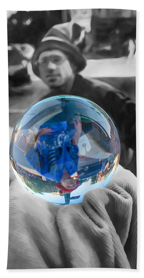 Crystal Ball Bath Sheet featuring the digital art The Colors Of Tomorrow by John Haldane