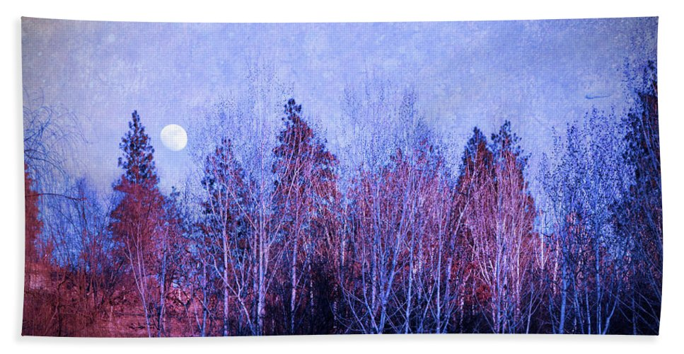 Moon Hand Towel featuring the photograph The Colours Of The Moon by Tara Turner