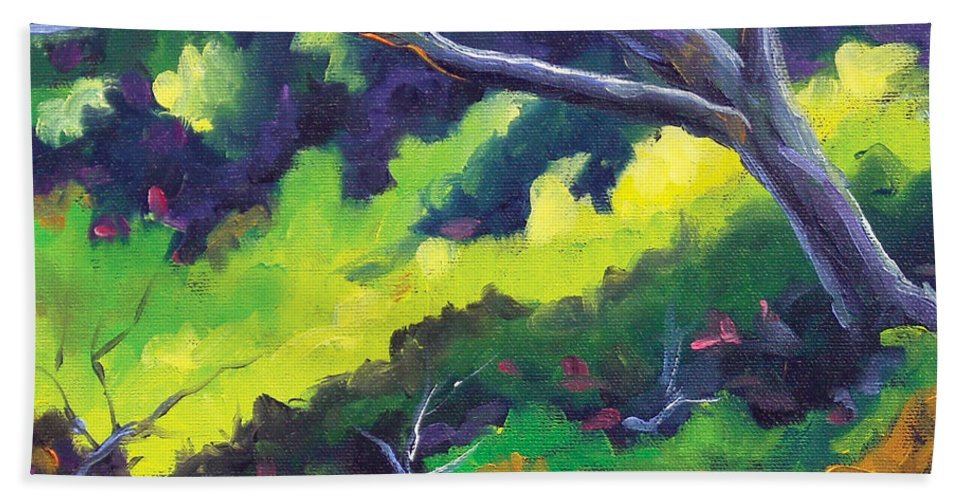 Art Hand Towel featuring the painting The Cool Shade by Richard T Pranke