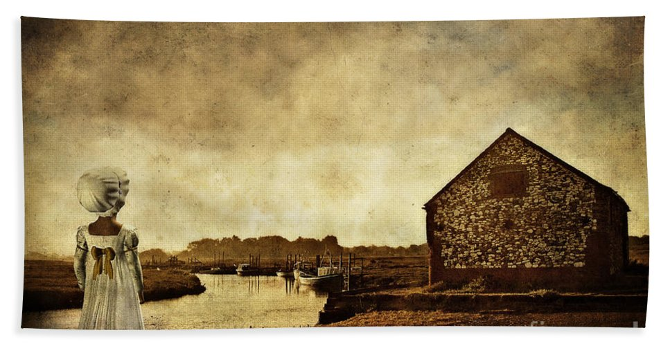 Thornam Creek Hand Towel featuring the photograph The Creek by John Edwards
