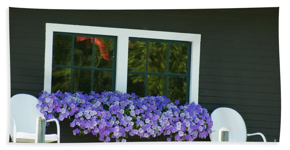 Porch Hand Towel featuring the photograph The Crooked Man's House by Judy Carr