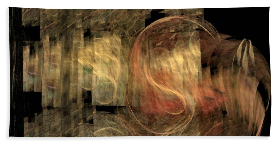 Abstract Hand Towel featuring the digital art The Crooked Road by NirvanaBlues