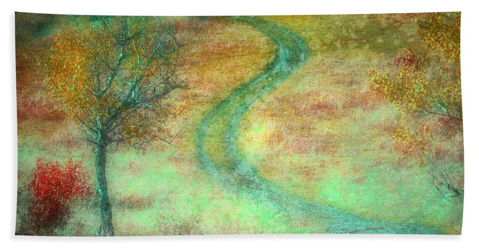 Road Hand Towel featuring the photograph The Curve In The Road by Tara Turner