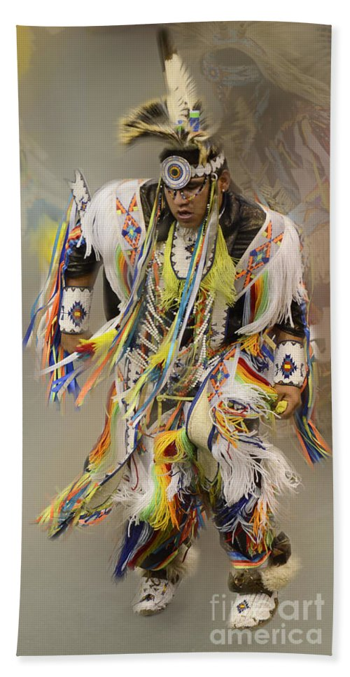 Pow Wow Bath Sheet featuring the photograph Pow Wow The Dance 4 by Bob Christopher