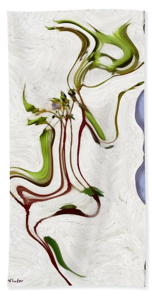 Abstract Hand Towel featuring the painting The Dance Of Spring by RC DeWinter