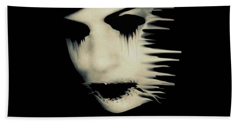 Torn Hand Towel featuring the photograph The Darkness by Frances Lewis