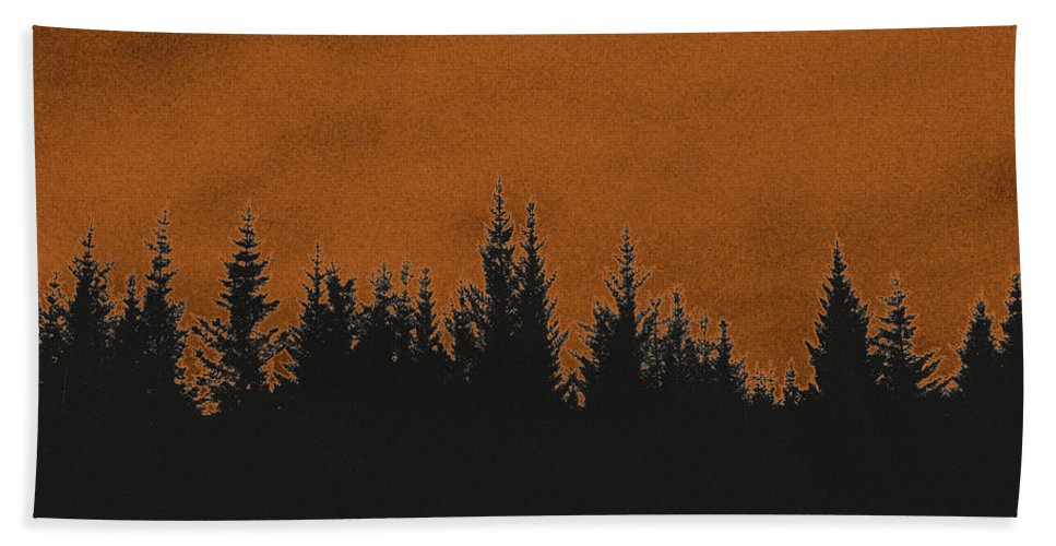 Forest Hand Towel featuring the photograph The Dawn by Thomas M Pikolin