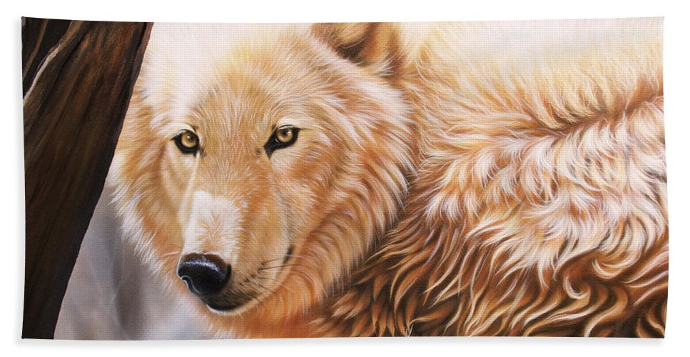 Acrylic Bath Towel featuring the painting The Daystar II by Sandi Baker