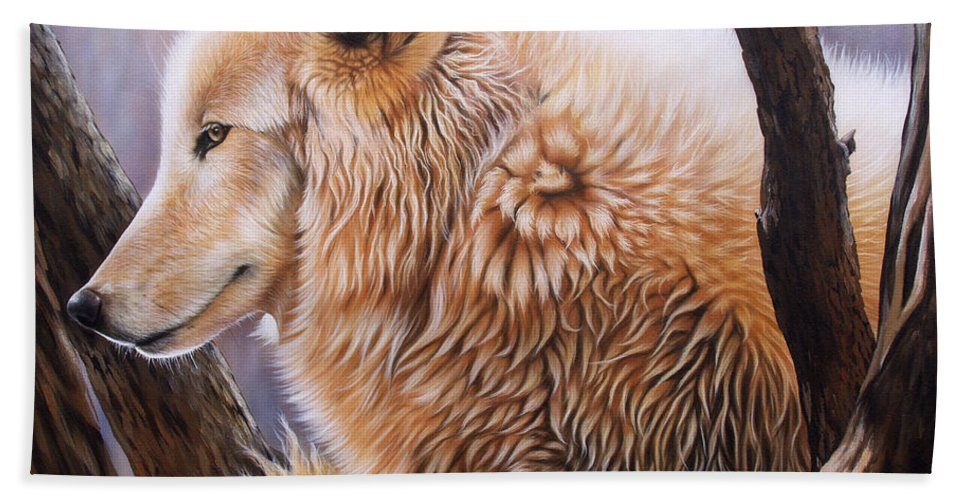 Acrylic Bath Sheet featuring the painting The Daystar by Sandi Baker