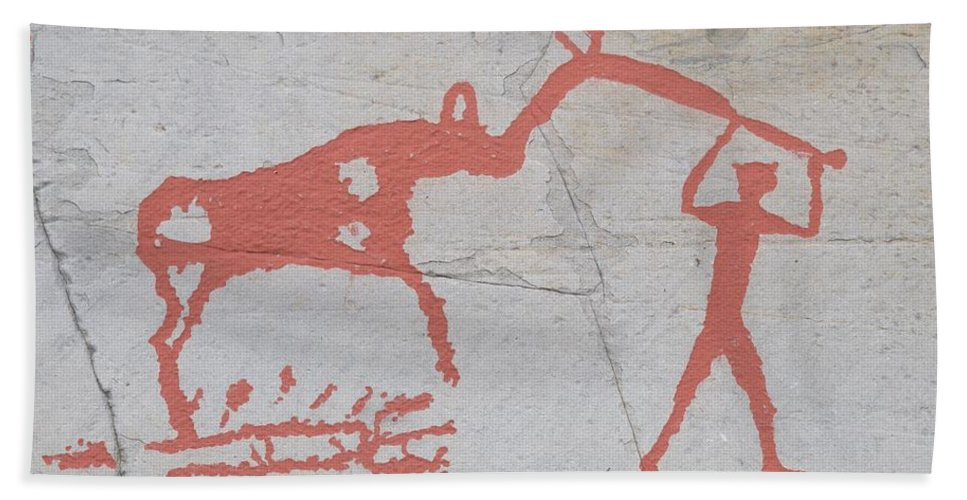 Alta Hand Towel featuring the photograph The Deer And Female Hunter by Jouko Lehto