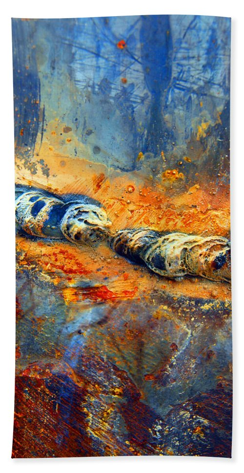 Abstract Hand Towel featuring the photograph The Division by Tara Turner