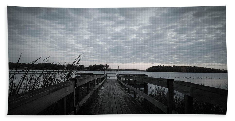 Water Hand Towel featuring the photograph The Dock by Tracy Welter