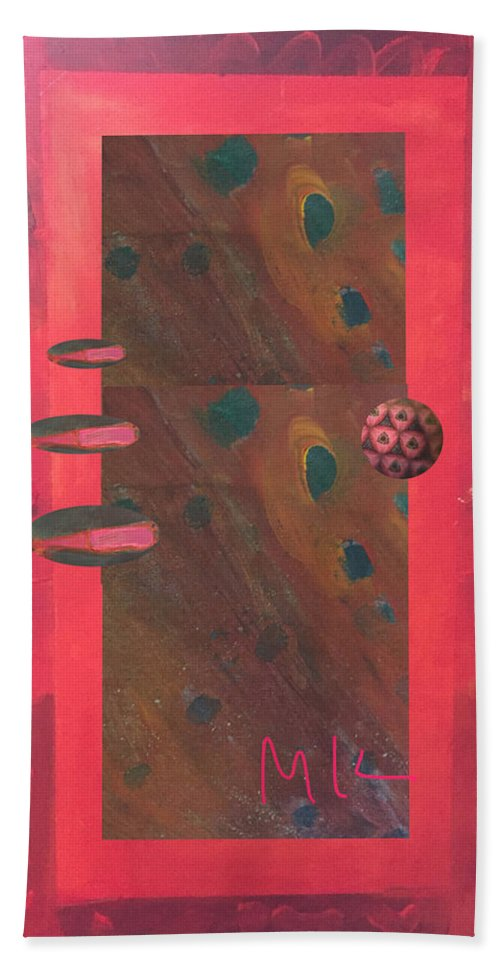 Decor Hand Towel featuring the digital art The Door by Mary Jo Hopton