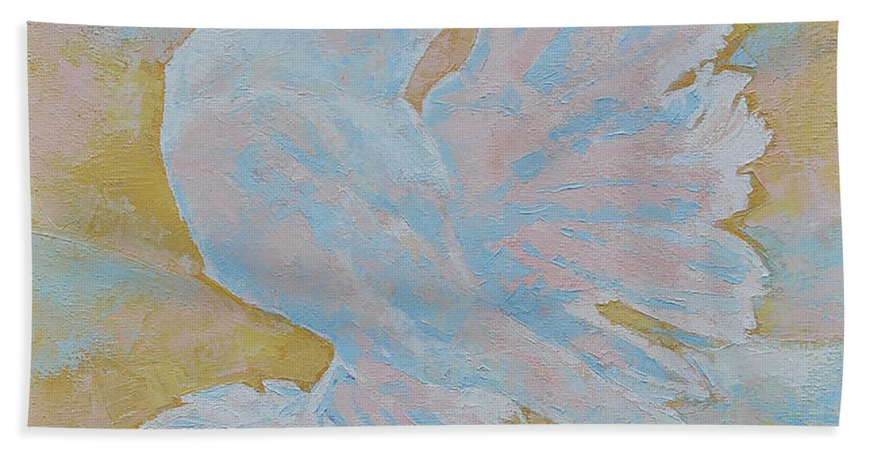 Dove Bath Sheet featuring the painting The Dove by Iliyan Bozhanov