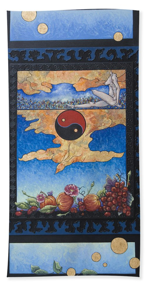 Karma Hand Towel featuring the painting The Dream by Judy Henninger