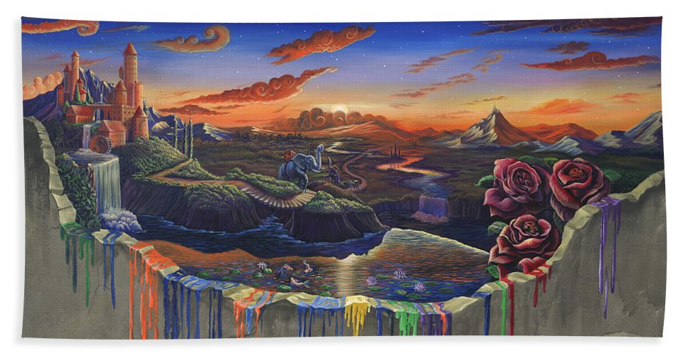 Surrealism Art The Surreal Dreamer Duality Bath Towel For