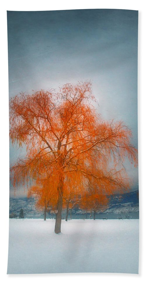 Tree Hand Towel featuring the photograph The Dreams Of Winter by Tara Turner