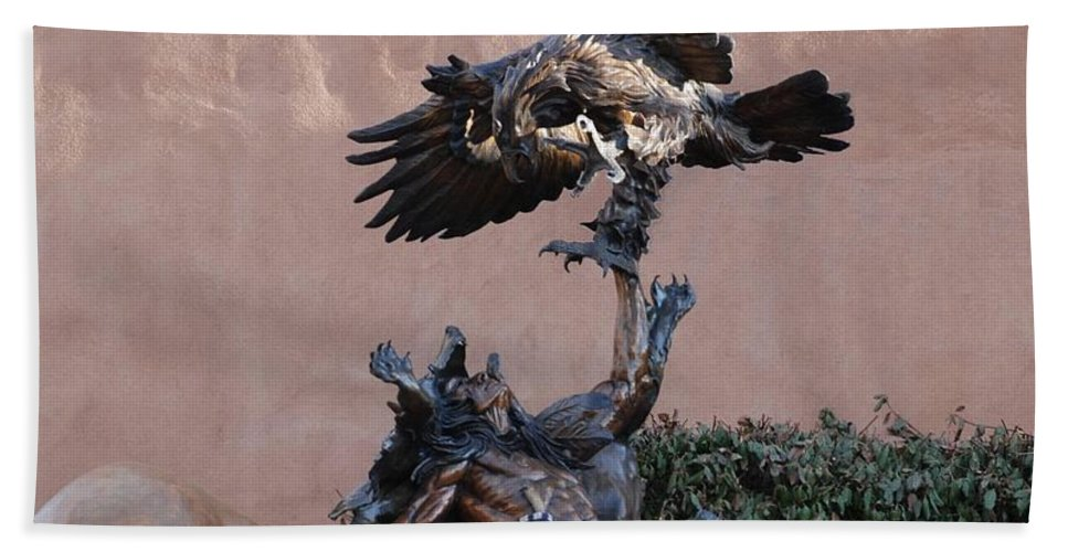 Eagle Hand Towel featuring the photograph The Eagle And The Indian by Rob Hans