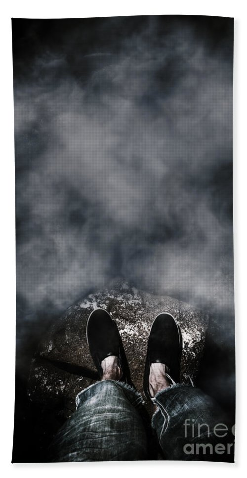 Cliff Hand Towel featuring the photograph The Edge Of The Unknown by Jorgo Photography - Wall Art Gallery