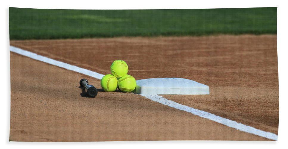 Softball Bath Sheet featuring the photograph The Elements by Laddie Halupa