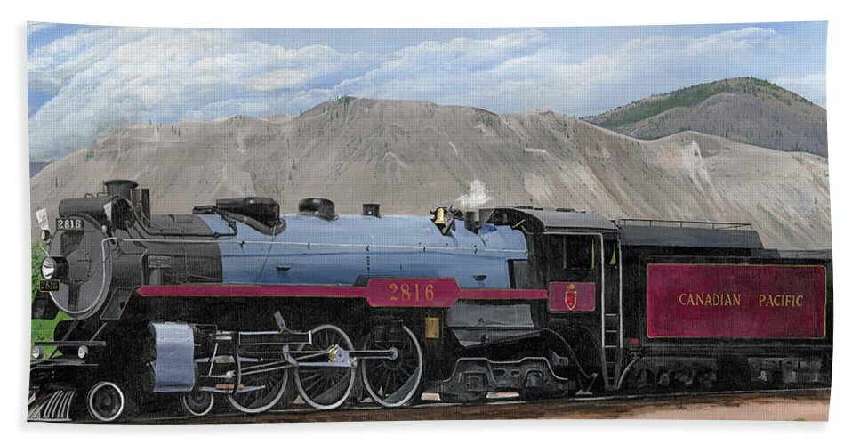 Canadian Pacific Hand Towel featuring the painting The Empress by Glen Frear