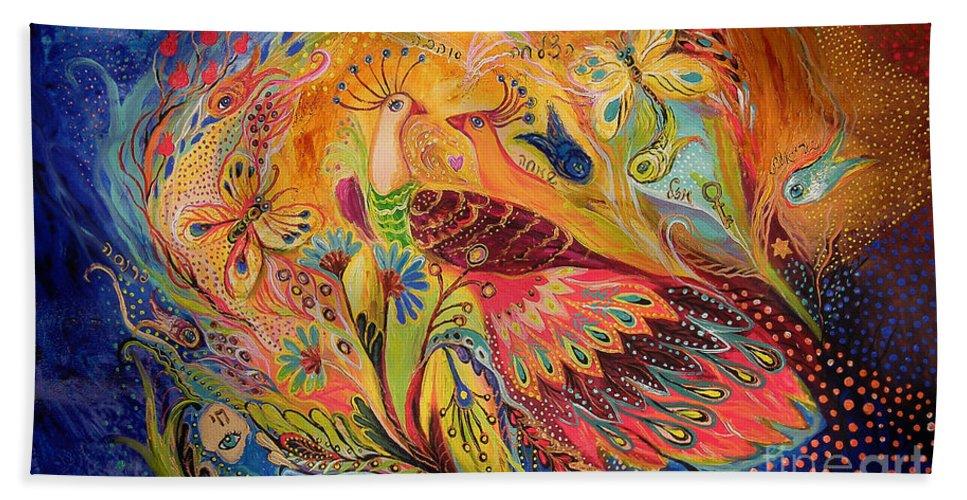 Original Bath Sheet featuring the painting The Eternal Dance by Elena Kotliarker