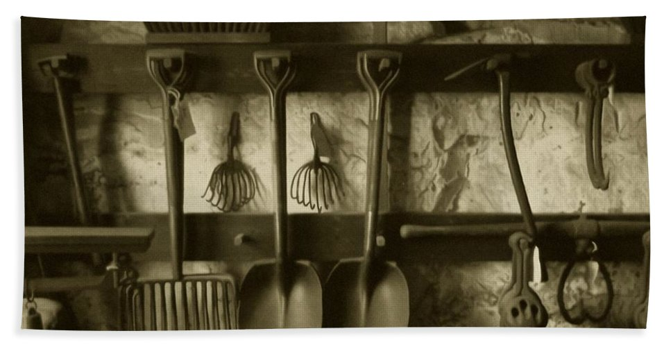 Farming Hand Towel featuring the photograph The Farmer's Toolshed by RC DeWinter