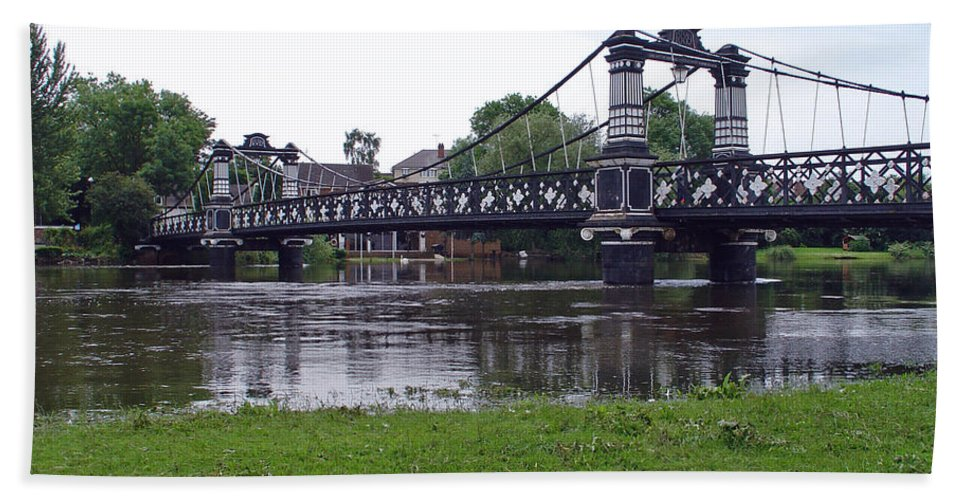 Europe Bath Sheet featuring the photograph The Ferry Bridge by Rod Johnson