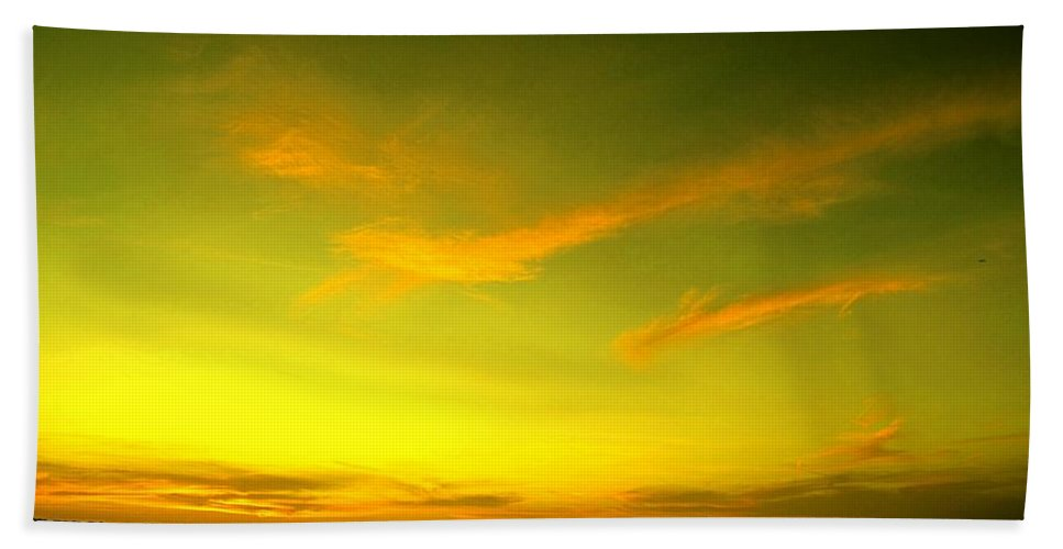 Sunset Bath Towel featuring the photograph The Final Light Is Gold by Ian MacDonald