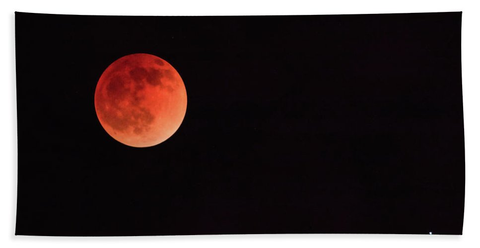 Arizona Hand Towel featuring the photograph The First Blood Moon Of The Tetrad by Rick Furmanek
