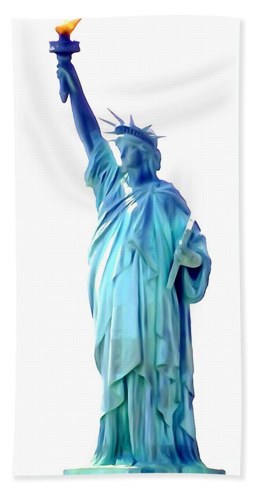 Digital Hand Towel featuring the photograph The First Lady Of Freedom by Ed Weidman