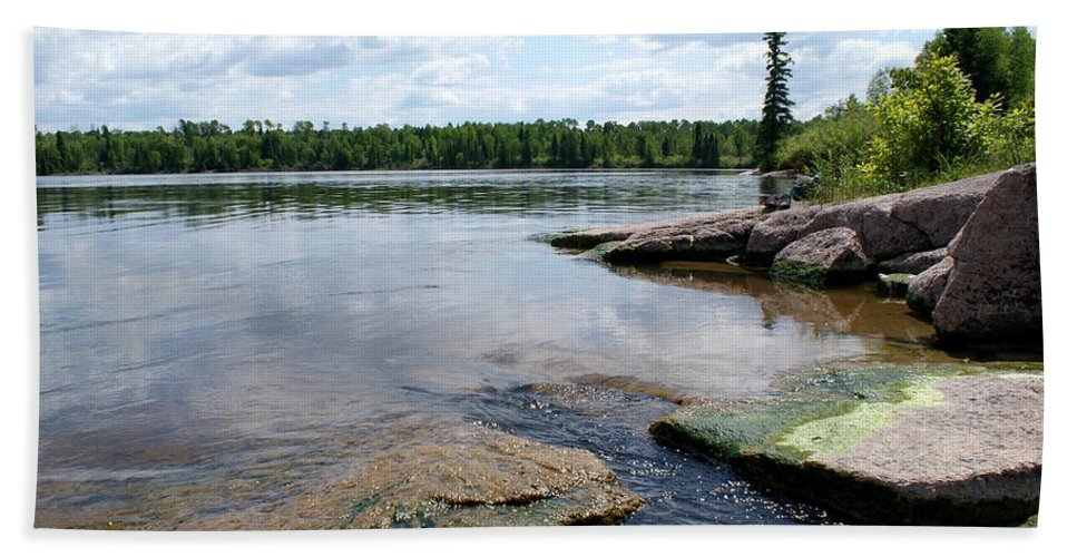 Lake Hand Towel featuring the photograph The Fishing Spot by Jo Smoley