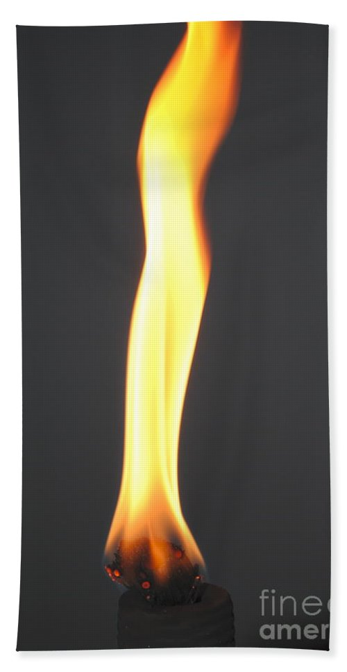 Flame Bath Sheet featuring the photograph The Flame by Jost Houk