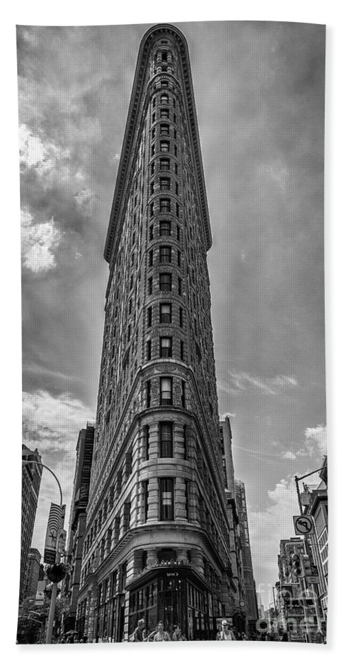 Flatiron Building Hand Towel featuring the photograph The Flatiron Building Nyc by Alissa Beth Photography
