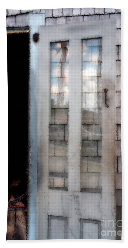Door Hand Towel featuring the painting The Forge And The Ship by RC DeWinter
