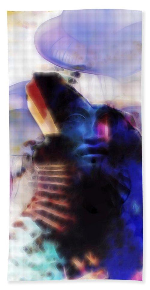 Vulcan Bath Sheet featuring the digital art The Forge Of Vulcan by David Derr