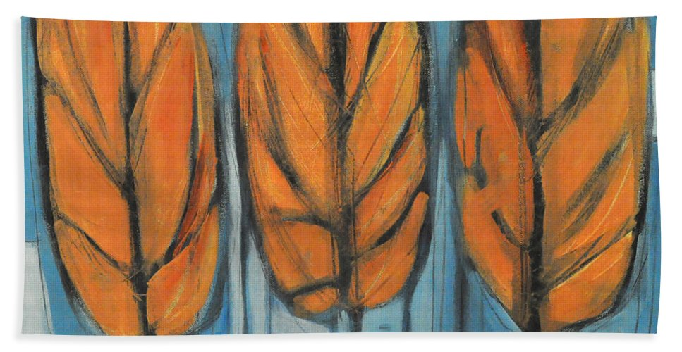 Trees Bath Sheet featuring the painting The Four Seasons - Fall by Tim Nyberg