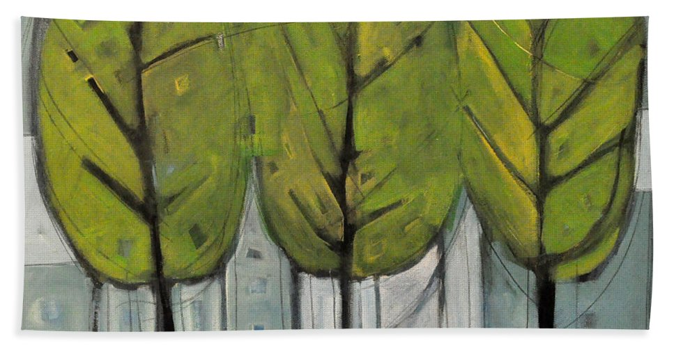 Trees Bath Sheet featuring the painting The Four Seasons - Summer by Tim Nyberg