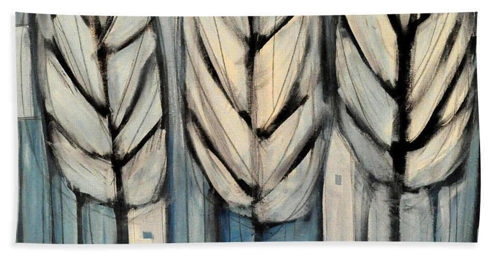 Trees Bath Sheet featuring the painting The Four Seasons - Winter by Tim Nyberg