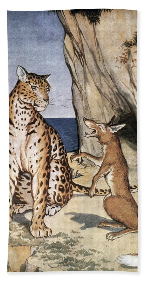 1919 Bath Sheet featuring the photograph The Fox And The Leopard by Granger